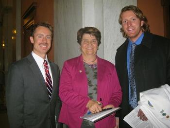 Ohio Acofp Member Jason Dapore Do State Sen Peggy Lehner And Simon Fraser Do After Testifying On Important Concussion Legislation In The Ohio Senate